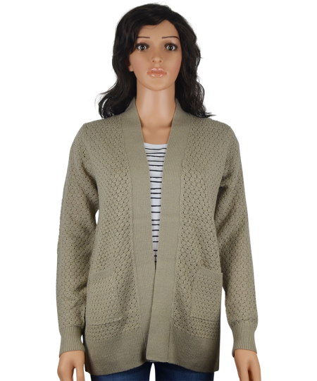 7f34c4ea96 Ladies Open V-Neck Cardigan - Diverse Style Ltd